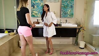 Nuru masseuse lesbo eats out