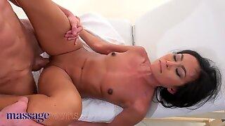 Massage Rooms, Tiny Thai beauty Suzie Q covered in cum