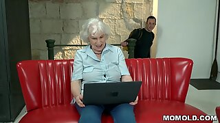 milky haired GILF plumbed by youthfull Dick