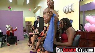 04 Rich milfs blowing strippers at underground cfnm party!49