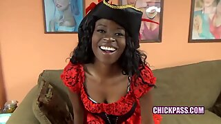 ChickPass - Pirate wench Melody's giving some head