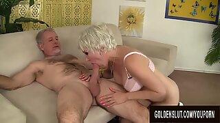 Amazing Grandma Dalny Marga Gets Fucked Passionately by an Old Man
