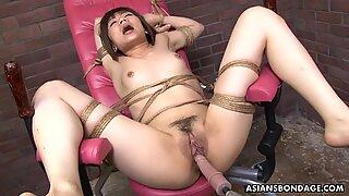 Tied up Japanese pornstar Shiori Natsumi smashed w