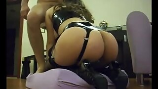 Latex milf whore from behind