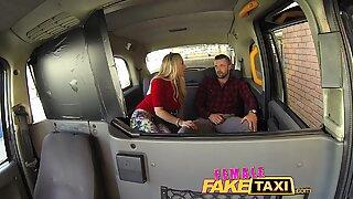 FemaleFakeTaxi Welsh lad gets a sweet surprise