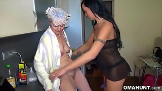 Mature Blonde Lesbian Has a Hot Action With a Teen