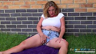 EuropeMaturE Camilla creampie Solo masturbation