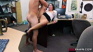 PawnShop confession bendover sex with fat dick